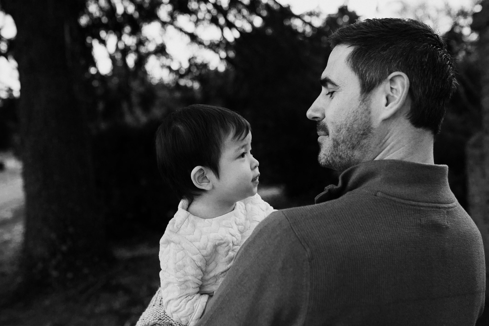 father and adopted baby - charitable adoption photography