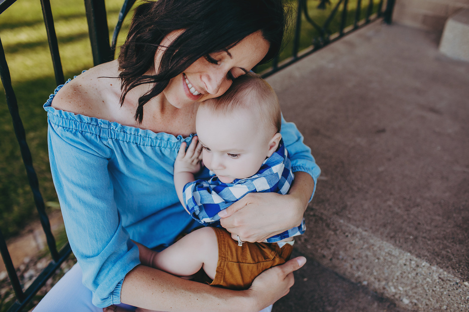 mom snuggles adopted baby - charitable adoption photography